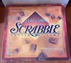 Vintage Scrabble Deluxe Edition Turntable Board Game with Classic Wood Tiles