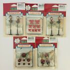 Lot of 23 Lemax Christmas Village Poly-ResinAccessories Lampposts Wreaths Bows