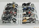 Lot of 8 Vintage Maisto Harley Davidson Die Cast 118 Motorcycles 5358 and up