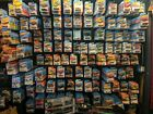 Lot Of 100 Random Matchbox Hot Wheels Good Condition On Card w some variants