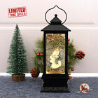 Holy Family Lighted Christmas Snow Globe Lantern Glitter Water Nativity Decor