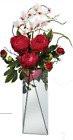 Stunning TRIANGLE EDGE MIRROR TOWER VASE NEW 16 Tall w 6 Opening