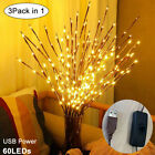 1 4Pcs LED Willow Branch Lamp Floral Light Fairy Lights Twig Branch XmasLighting