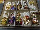 INGE GLASS 12 PIECE ORNAMENT NATIVITY SET SILENT NIGHT HOLY NIGHT