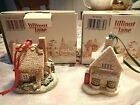Lilliput Lane Christmas Ornaments - Ivy House and Robin Cottage