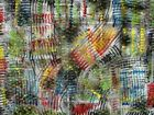 Modernist LARGE ABSTRACT PAINTING Expressionist MODERN ART SHORT CIRCUIT FOLTZ