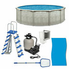 Aquarian 21 x 52 Pools Above Ground Pool Kit with Liner Skimmer  Ladder