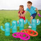 Inflatable Cactus Ring Toss Game Hoops Pool Beach Party Outdoor Game Kids Adult