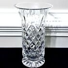 Waterford Footed VASE Crystal Glass 85 Inches Tall Vintage Cross Cross Diamond