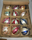 12 Vintage Beautiful Christmas Poland Hand Painted Glass Ornaments b24