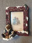 ⭐️Boyds Bears Edmund... The Night Before Christmas Picture Frame