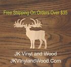 Elk Wooden Craft Shape Any Size Wood Cutout Art and Craft Supply A357