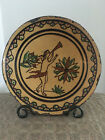 Shooner American Redware 8 1 2 Angel Plate signed Mary Spellmire Shooner 1997