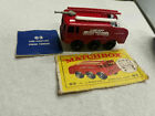 Vintage Mint Lesney Matchbox Toy Car Fire Truck Fighter Crash Tender 63 ladder