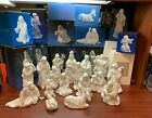 Vintage AVON White Porcelain Nativity 17 piece collection 1981 1993