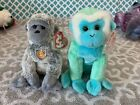Ty Beanie Babies Of The Month Exclusives: VIRUNGA & ZOOMER the Monkeys! MWMT