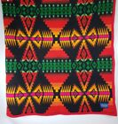 Pendleton Red Blanket Robe Chief Joseph Native Arrowhead Print Navajo 6433