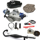 2 Stroke 49cc 50cc 44mm Bore Engine Motor Kit Gearbox Exhaust Fuel Tank Chain