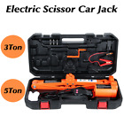 Car Jack Lift 12v35ton Electric Scissor Hydraulic Floor Jack Tire Inflator Tool