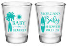 Baby on board beach baby shower favors surf board baby shower shot glasses