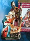 Nativity Holy Family Porcelain Night Light Lamp Figurine With Box