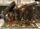 Huge Vintage Stable For 12 Scale Nativity Set Awesome Made In Italy