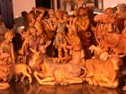 RARE fontanini 75 NATIVITY SET with EXTRA figures
