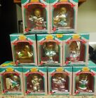 Precious Moments Christmas Ornaments Lot of 9 1995 1996 Home For The Holidays