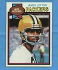 James Lofton Cards, Rookie Card and Autographed Memorabilia Guide 4