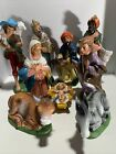 Vintage Nativity Molded Plastic Made in Italy Set of 9 Christmas Numbered