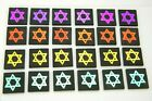 STAR OF DAVID SET OF 24 ETCHED DICHROIC GLASS EB6 CBS COE 90 FUSING SUPPLY