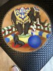 Peggy Karr Art Glass Signed Circus Elephant Dog 11 Tray Plate