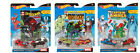 3 Hot Wheels Marvel Character Car 2 Pack with Comic Book