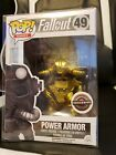Funko Pop Fallout Power Armor GOLD #49 Game Stop Exclusive