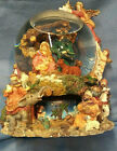 Nativity Scene Revolving Musical Snow Globe Music Box Works Great Large Size