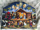 BYERS CHOICE Traditions Wooden Nativity Scene Advent Calendar
