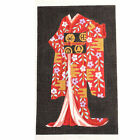 HAND PAINTED NEEDLEPOINT CANVAS RED FLORAL KIMONO ASIAN ORIENTAL THEME BM