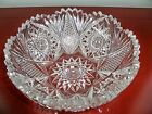 AMERICAN BRILLIANT CUT GLASS CRYSTAL ANTIQUE RARE BOWL 8 1 4 x 3 3 4 1900S ABP