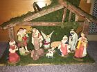 Large Vintage Nativity Set 17 X 11
