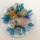 Peggy Karr Glass 85 SEA SHELLS Bowl Signed