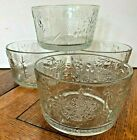 4 VINTAGE CRYSTAL FLORA BOWLS BY OLIVA TOIKKA FOR NUUTAJARVI GLASS FINLAND