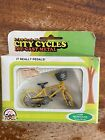 Mongoose Motomag Bicycle Diecast Toy NOS 1990s Yellow Zee Toys