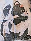 Vtg SKUNK PILLOW DOLL Cotton Fabric Cut n Sew Sewing Panel