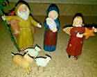 Lang and Wise 1997 Angels  Nativities by Sue Dreamer 6 pc Dreamers Nativity