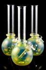 medium silver fumed glass water pipe Colors may vary