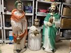 RARE set Beco Blow Mold Wise Men Nativity 50 tallest Christmas Jewel Chain