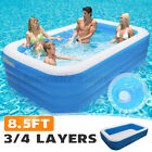 Family Swimming Pool Outdoor Garden Summer Inflatable Kids Adults Paddling Pool