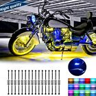 16x 96 LED Motorcycle Chassis Decoration Light Remote Control RGB Color Neon New
