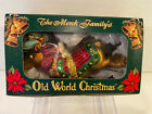 Rare OLD WORLD Christmas Glass Reindeer Ornament Collectible 2003 NWT Open Box