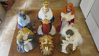 1960s Japan large scale 13 jeweled robes detailed faces nativity figures